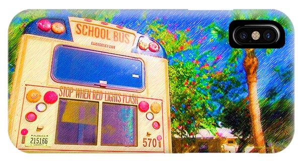 Anna Maria Elementary School Bus C131270 IPhone Case