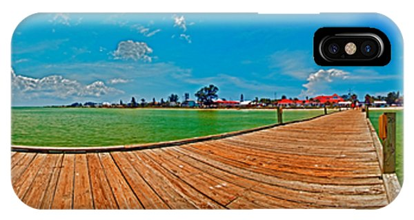 Anna Maria Island Seen From The Historic City Pier Panorama IPhone Case