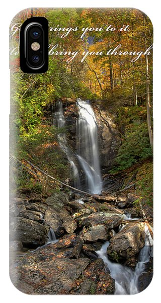 IPhone Case featuring the photograph Anna Rby Falls 3 by Penny Lisowski