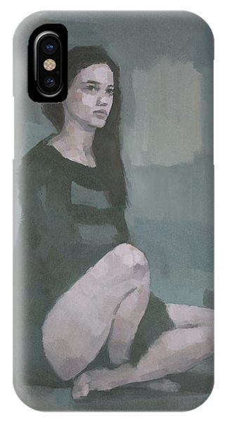 IPhone Case featuring the painting Anna  by Steve Mitchell