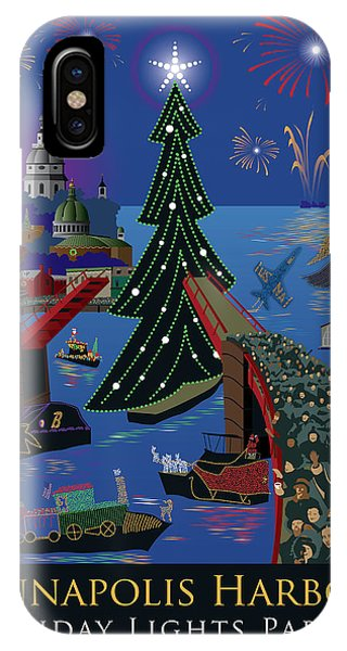 Annapolis Holiday Lights Parade IPhone Case
