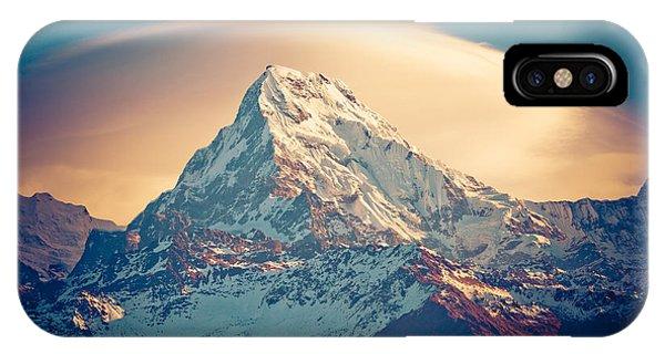 Annapurna Sunrise Himalayas Mountains IPhone Case
