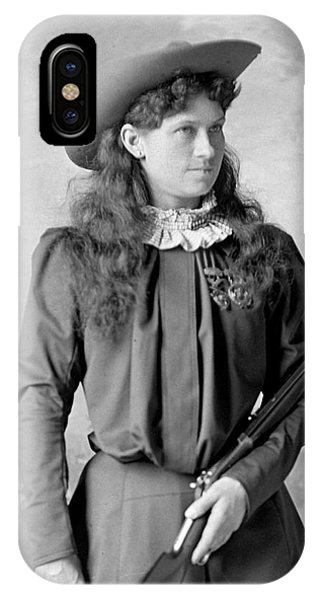 Sharpshooter iPhone Case - Annie Oakley by David Frances Barry