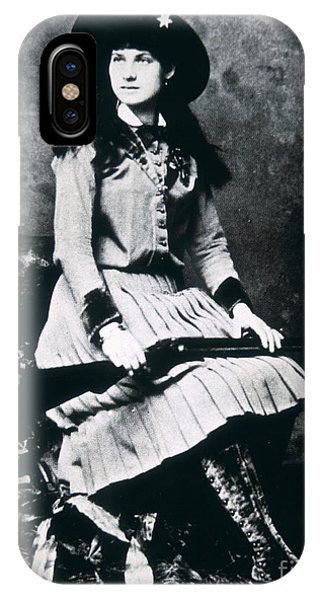 Sharpshooter iPhone Case - Annie Oakley  Star Of Buffalo Bill's Wild West Show by American School