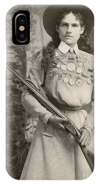 Sharpshooter iPhone Case - Annie Oakley With A Rifle, 1899 by Richard Kyle Fox
