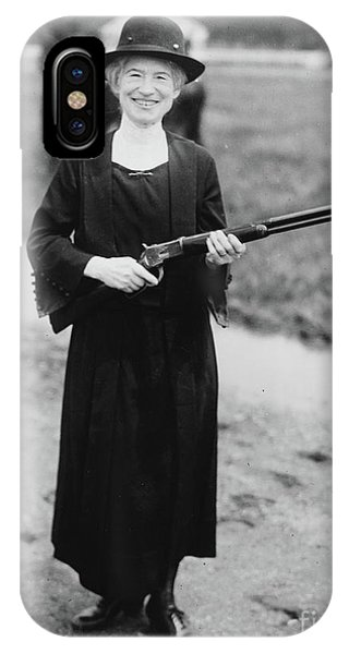 Sharpshooter iPhone Case - Annie Oakley With The Gun Buffalo Bill Gave Her, 1922 by American School