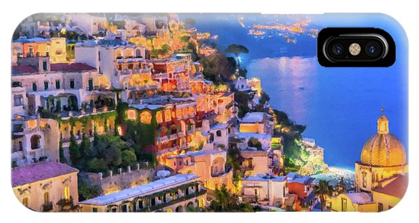 Another Glowing Evening In Positano IPhone Case