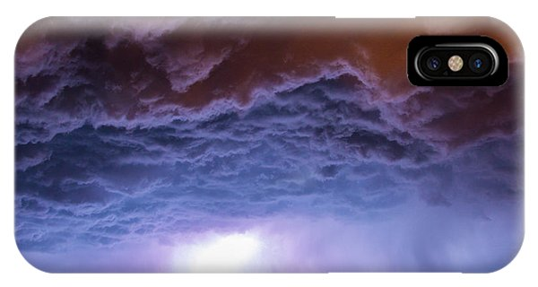 Another Impressive Nebraska Night Thunderstorm 007 IPhone Case