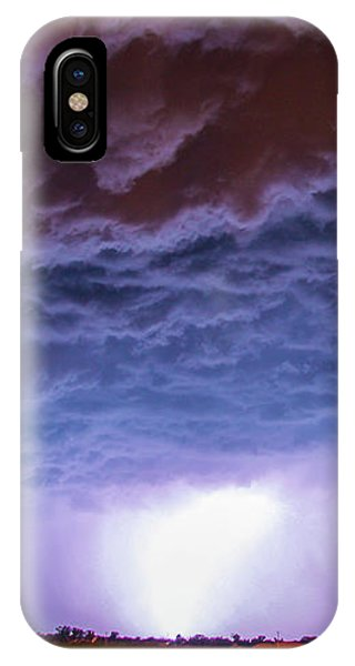 IPhone Case featuring the photograph Another Impressive Nebraska Night Thunderstorm 007 by NebraskaSC