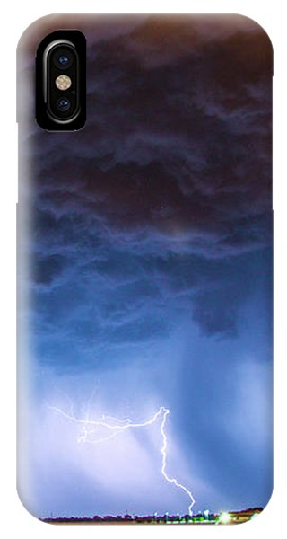 IPhone Case featuring the photograph Another Impressive Nebraska Night Thunderstorm 008/ by NebraskaSC
