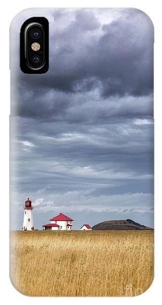 iPhone Case - Anse A La Cabane Lighthouse On The Magdalen Islands by Jane Rix