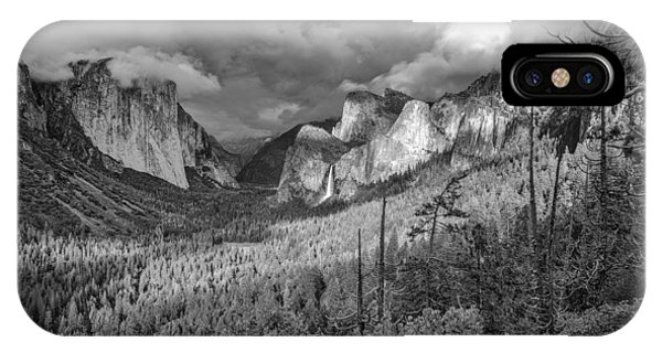 Ansel Adams Inspired Yosemite Tunnel View IPhone Case
