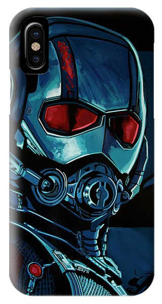 Men iPhone Case - Ant Man Painting by Paul Meijering