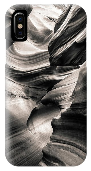 Antelope Canyon Bw IPhone Case
