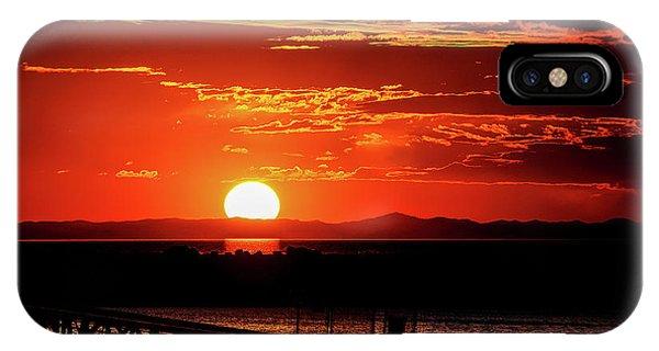 Antelope Island Marina Sunset IPhone Case