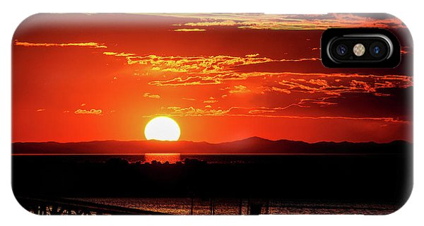 Antelope Island Marina Sunset IPhone Case