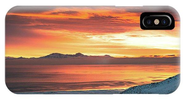 Antelope Island Sunset IPhone Case