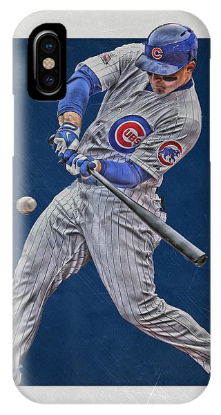 Illinois iPhone Case - Anthony Rizzo Chicago Cubs Art 1 by Joe Hamilton