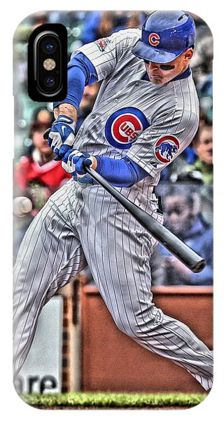 Bat iPhone Case - Anthony Rizzo Chicago Cubs by Joe Hamilton