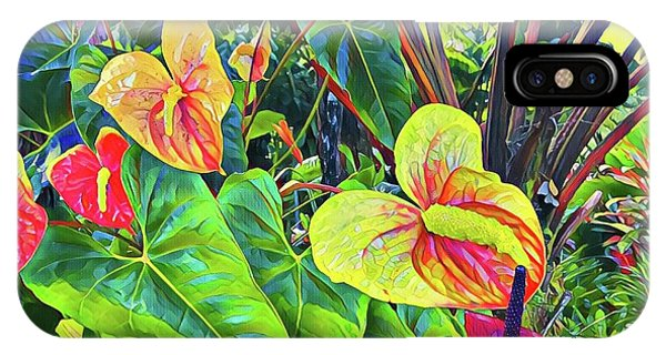 Anthuriums Yellow And Red IPhone Case