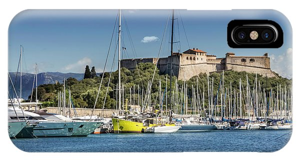 French Riviera iPhone Case - Antibes Fort Carre And Port Vauban  by Melanie Viola