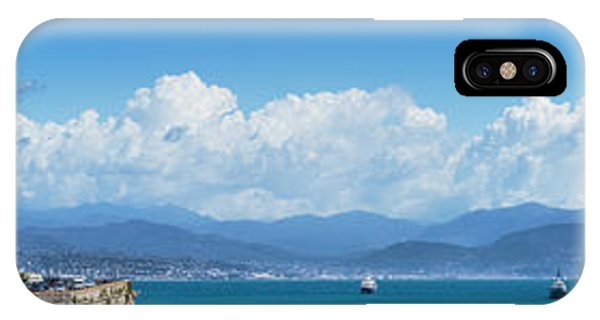 French Riviera iPhone Case - Antibes Old Town - Panoramic by Melanie Viola