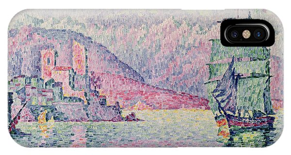 Impressionism iPhone X Case - Antibes by Paul Signac