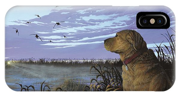 On Watch - Yellow Lab IPhone Case