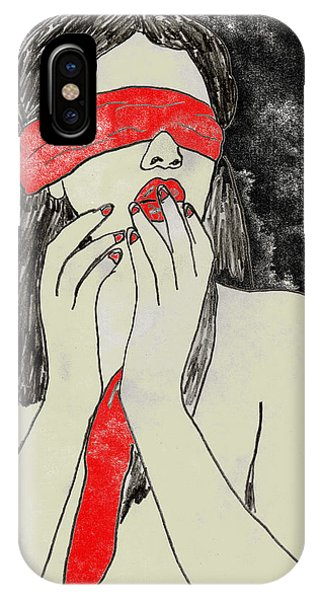 IPhone Case featuring the drawing Anticipation by W And F Kreations