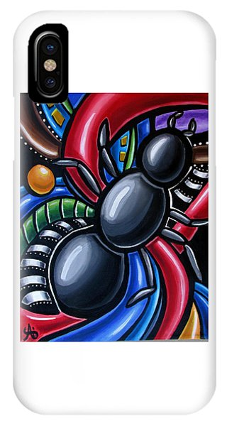 Ant Art Painting Colorful Abstract Artwork - Chromatic Acrylic Painting IPhone Case