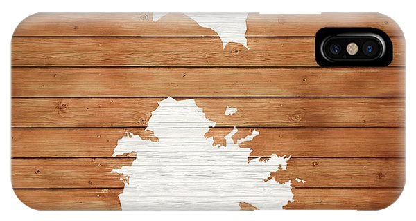 Traveler iPhone Case - Antigua Rustic Map On Wood by Dan Sproul