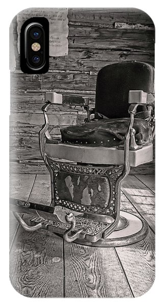 IPhone Case featuring the photograph Antique Barber Chair by Scott Read