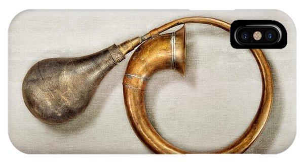 Antique Brass Car Horn IPhone Case