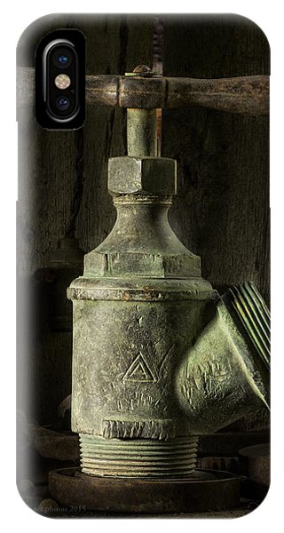 Antique Brass T Valve IPhone Case