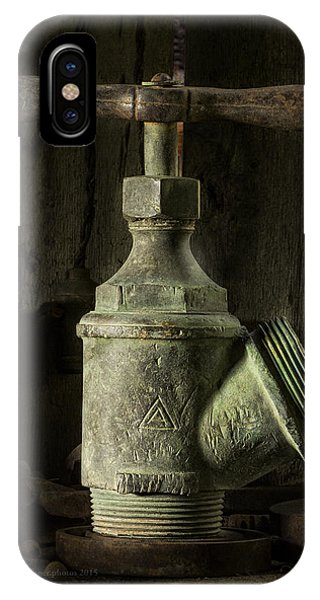 Antique Brass T Valve IPhone Case