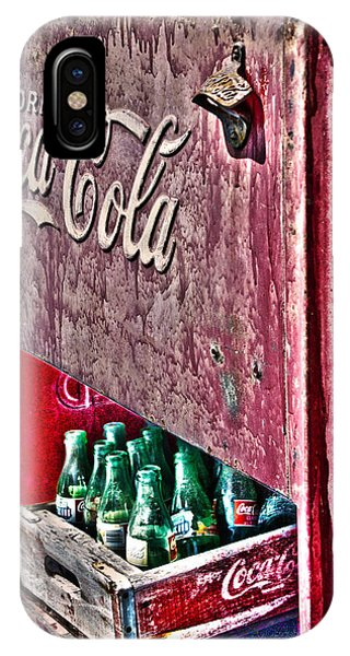 Antique Coca Cola Coke Refrigerator IPhone Case