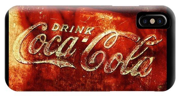 Antique Coca-cola Cooler II IPhone Case