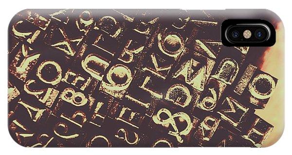 Antique Enigma Code IPhone Case