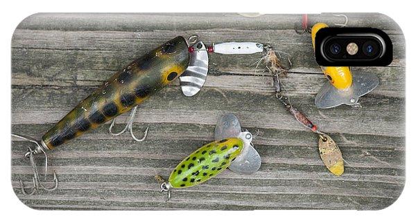 Antique Fishing Lures IPhone Case
