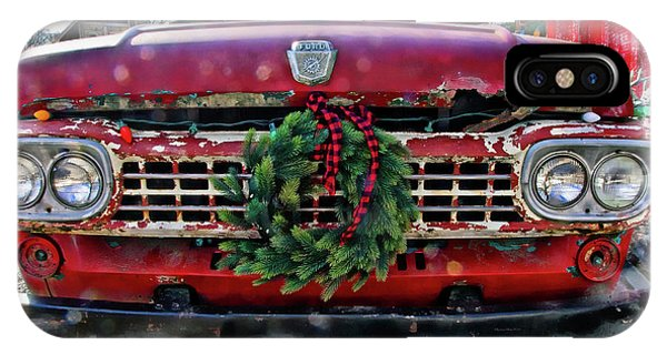 Antique Ford Christmas IPhone Case