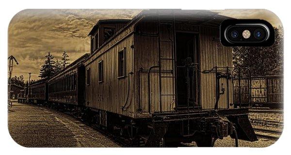 Antique Iron Range Caboose IPhone Case