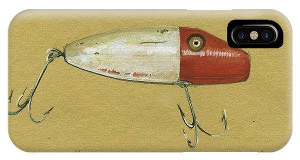 Trout iPhone Case - Antique Lure Bait by Juan Bosco