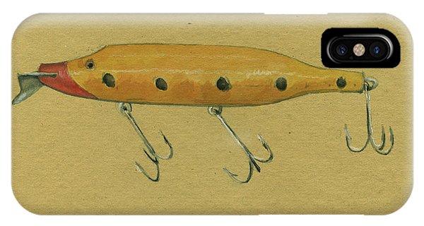 Trout iPhone Case - Antique Lure by Juan Bosco