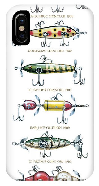 Antiques iPhone Case - Antique Lure Panel by JQ Licensing