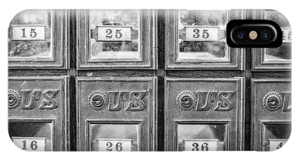 Antique Mailbox Black And White IPhone Case