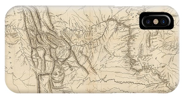 Pacific Ocean iPhone Case - Antique Map - Lewis And Clark's Track Across North America by Meriwether Lewis and William Clark