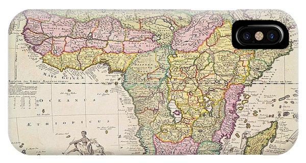 Antique Map Of Africa IPhone Case
