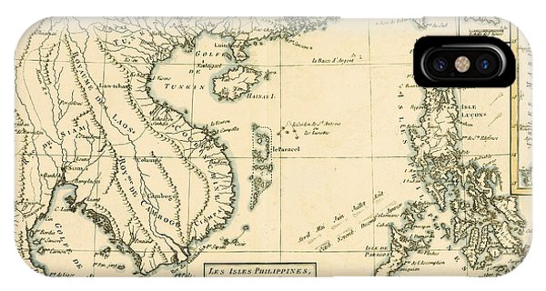 Antique Map Of South East Asia IPhone Case