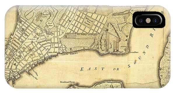 Antique Maps - Old Cartographic Maps - City Of New York And Its Environs IPhone Case