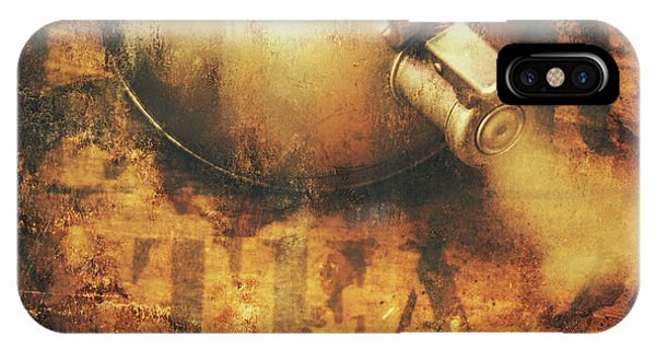 Kettles iPhone Case - Antique Old Tea Metal Sign. Rusted Drinks Artwork by Jorgo Photography - Wall Art Gallery